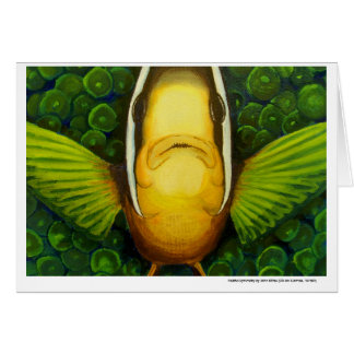 Clownfish in Anemone Card