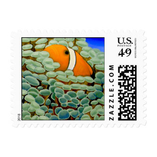 Clownfish in Frogspawn Coral Postage