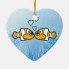 Clownfish Love Ceramic Ornament