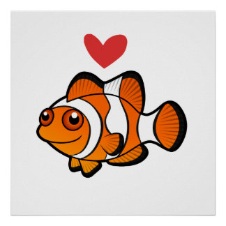 Clownfish Love Poster