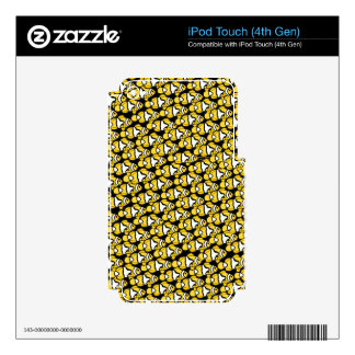Clownfish Pattern on black Decals For iPod Touch 4G