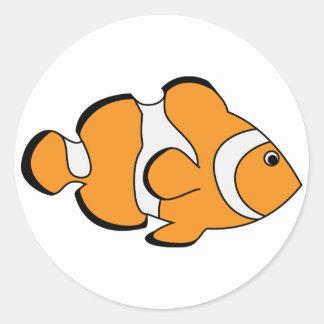 Clownfish Pegatinas Redondas