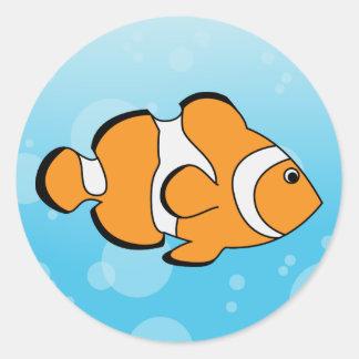 Clownfish Etiquetas Redondas