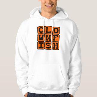 Clownfish, pescado colorido suéter con capucha
