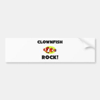 Clownfish Rock Car Bumper Sticker