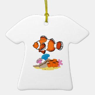 CLOWNFISH SCENE CERAMIC T-Shirt ORNAMENT