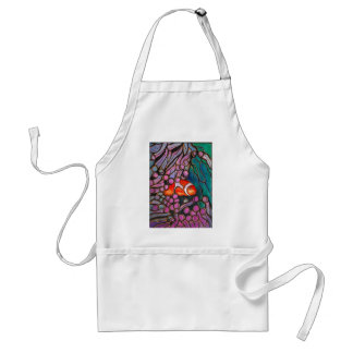"Clownfish Sea Anemone ""Stained Glass"" design! Adult Apron"