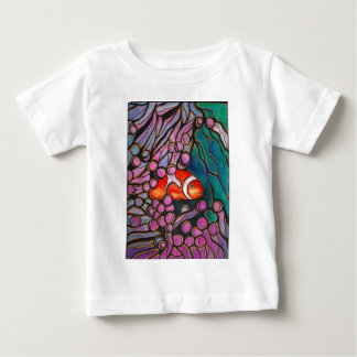 "Clownfish Sea Anemone ""Stained Glass"" design! Baby T-Shirt"