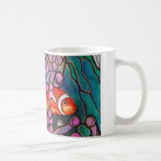 "Clownfish Sea Anemone ""Stained Glass"" design! Coffee Mug"