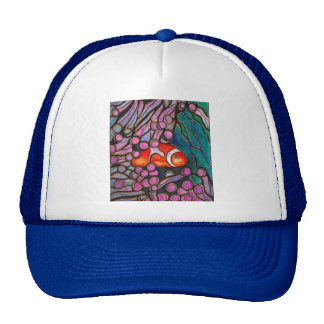 "Clownfish Sea Anemone ""Stained Glass"" design! Trucker Hat"