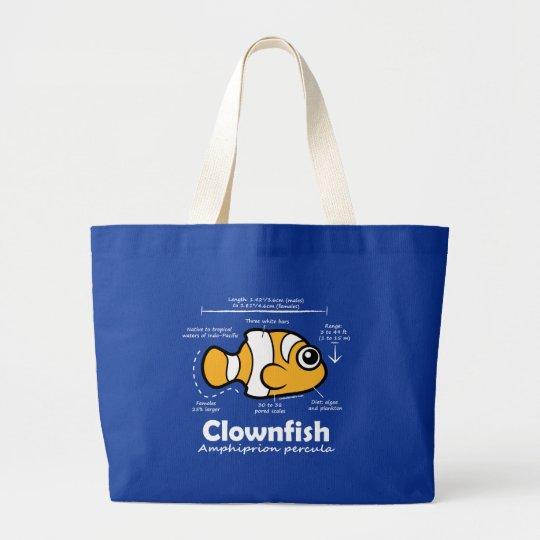 Clownfish Statistics Large Tote Bag
