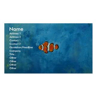 Clownfish Plantillas De Tarjetas Personales
