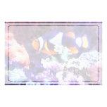 Clownfish y coral papelería de diseño