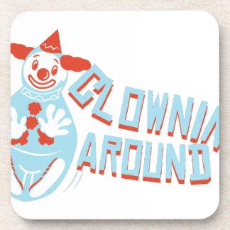 Clownin Around Beverage Coaster