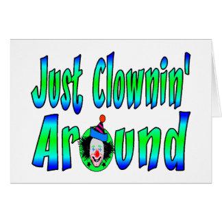 Clownin Around Card