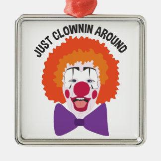Clownin Around Metal Ornament