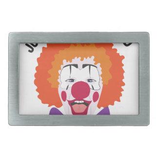 Clownin Around Rectangular Belt Buckle
