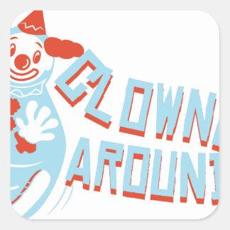 Clownin Around Square Sticker