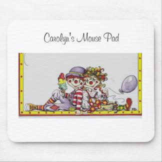 Clowning alrededor, cojín del ratón de Carolyn Mousepads