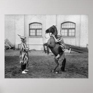 Clowning Around: 1915 Print