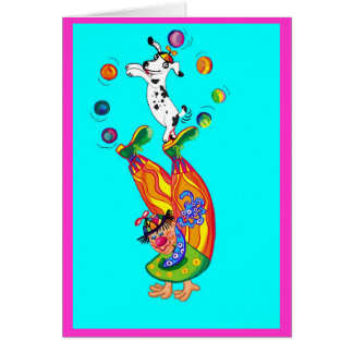 Clowning around (blank inside) greeting card