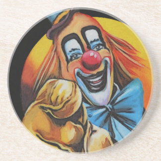 Clowning Around Beverage Coasters