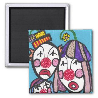 Clowning around fridge magnets