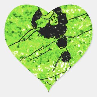 Clowning Around Heart Sticker
