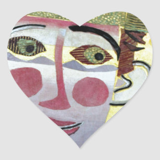 Clowning Around. Heart Sticker