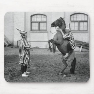 Clowning Around on a Horse, 1915 Mouse Pad