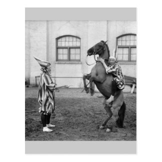 Clowning Around on a Horse 1915 Post Cards
