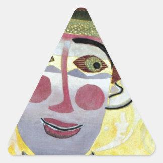 Clowning Around. Triangle Sticker