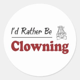 Clowning bastante pegatina redonda