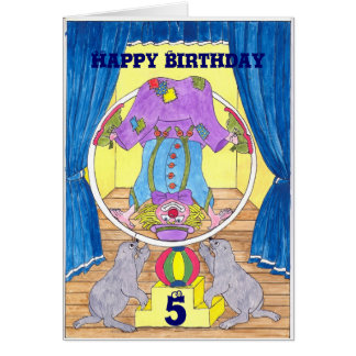 Clowning Capers Birthday Card