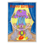 Clowning Capers Birthday Greetings Card