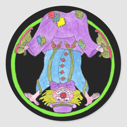 Clowning Capers Sticker