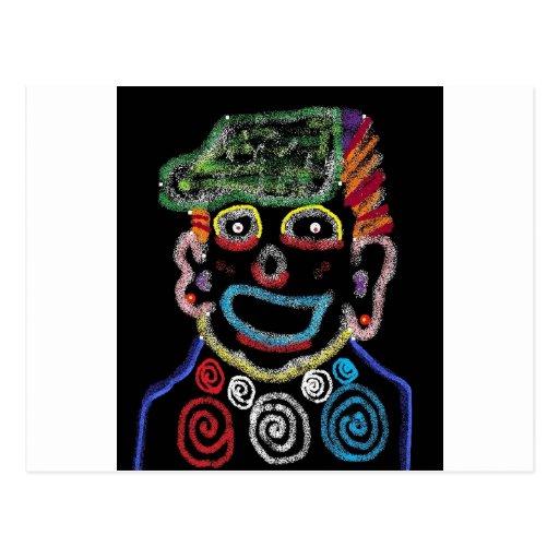 clowning postcard