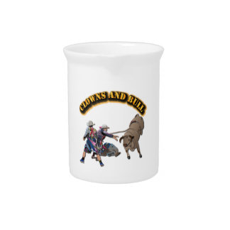 Clowns and Bull-2 with Text Beverage Pitchers