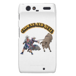 Clowns and Bull-2 with Text Motorola Droid RAZR Cover
