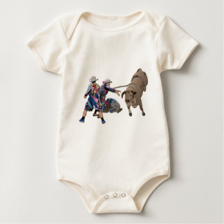 Clowns and Bull-2 without Text Baby Bodysuit