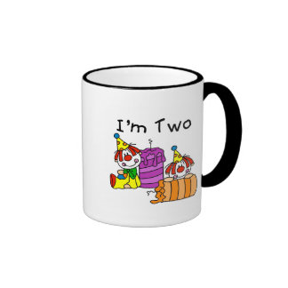 Clowns and Candles 2nd Birthday Tshirts and Gifts Ringer Coffee Mug