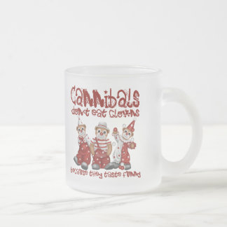 Clowns and Cannibals Frosted Glass Coffee Mug