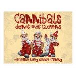 Clowns and Cannibals Postcard