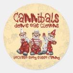 Clowns and Cannibals Round Sticker