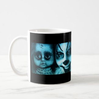 Clowns and Dolls and The Chamber Magazine Coffee Mug