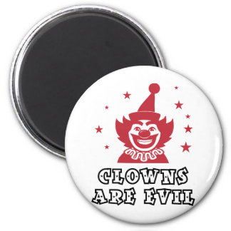 Clowns Are Evil 2 Inch Round Magnet