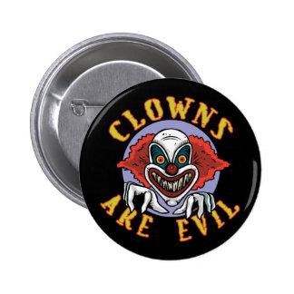Clowns are Evil Button Pin