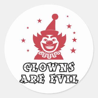 Clowns Are Evil Classic Round Sticker