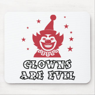 Clowns Are Evil Mouse Pad