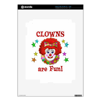 Clowns are Fun Decals For The iPad 2